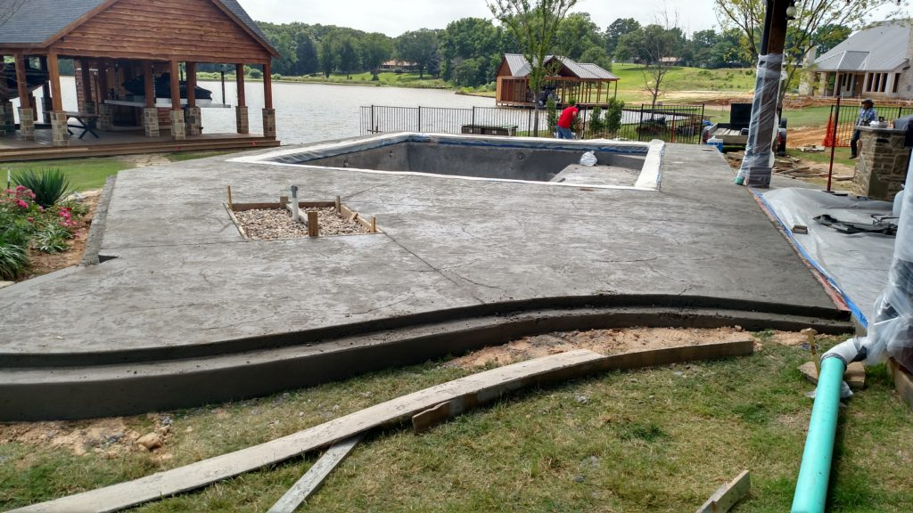 completed new deck with negative edge pool